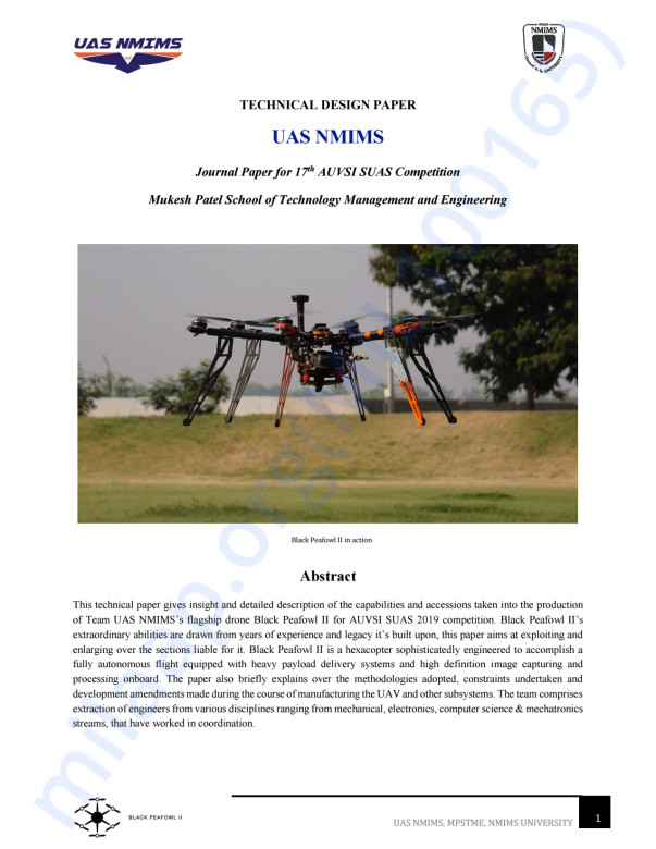YEAR 2019 AUVSI SUAS JOURNAL PAPER