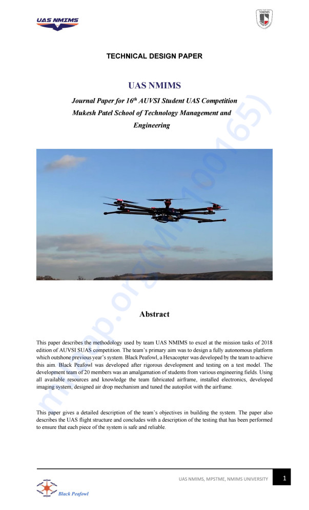 YEAR 2018 AUVSI SUAS JOURNAL PAPER