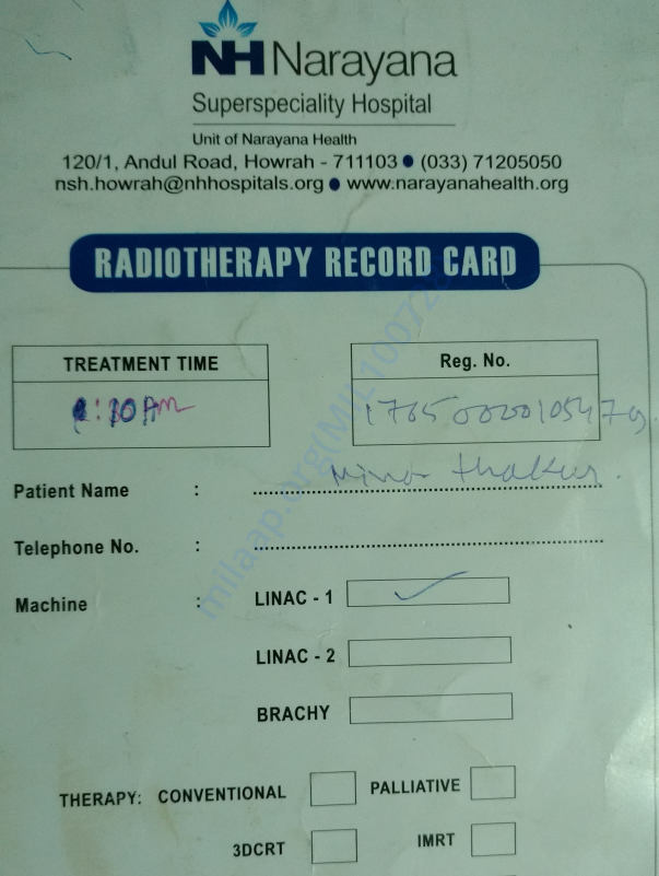 Radiation Therapy card