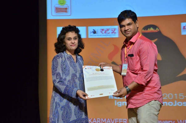 Karmaveer Global Fellowship award from REX Karmaveer Foundation