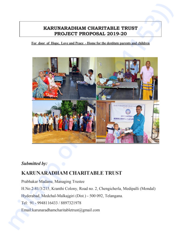 Project Proposal for 2019-20