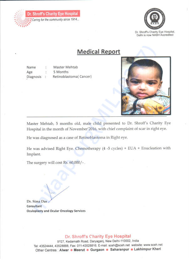 Medical report and estimate