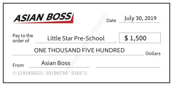 Asian Boss Donation To Little Star Pre-School