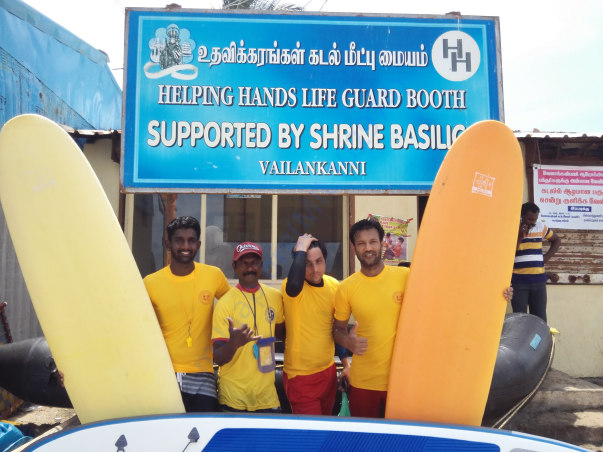 Voluntary lifeguard service at Shrine Velankani festival