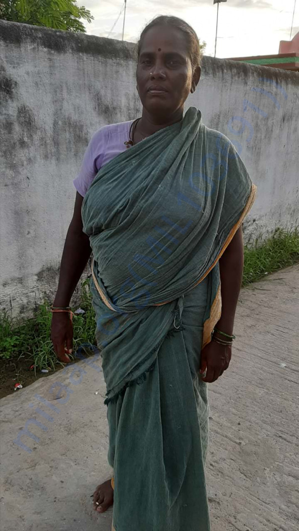Amudha from the village of Thuraampoondi