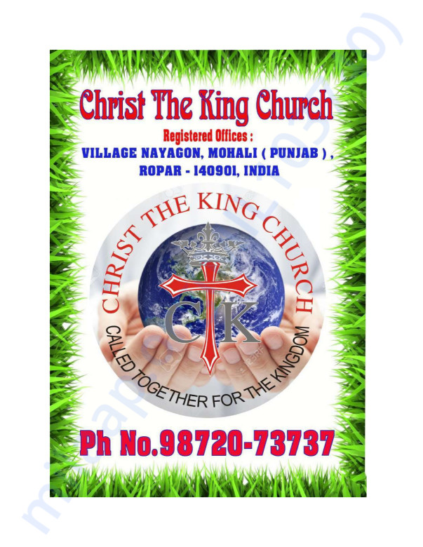 all the documents of christ the king church, first half for the pdf