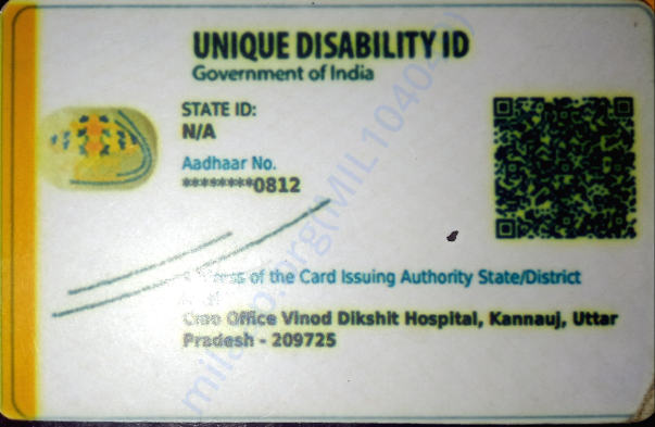Handicapped card