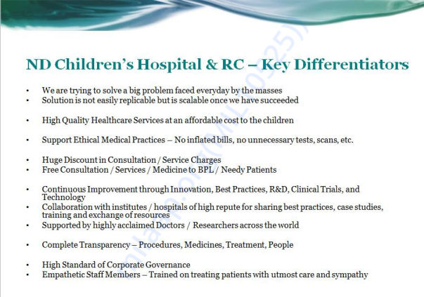 Why NDCHRC - Key Differentiators