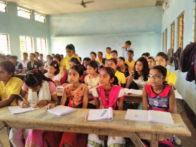 Workshop at Mandia Model school,Assam,India