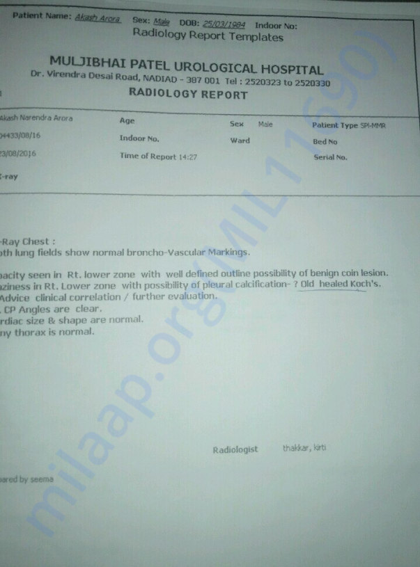 Radiology Report