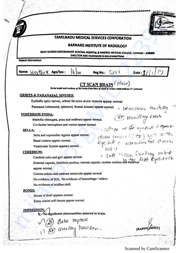 Karthik Medical Report pg 2