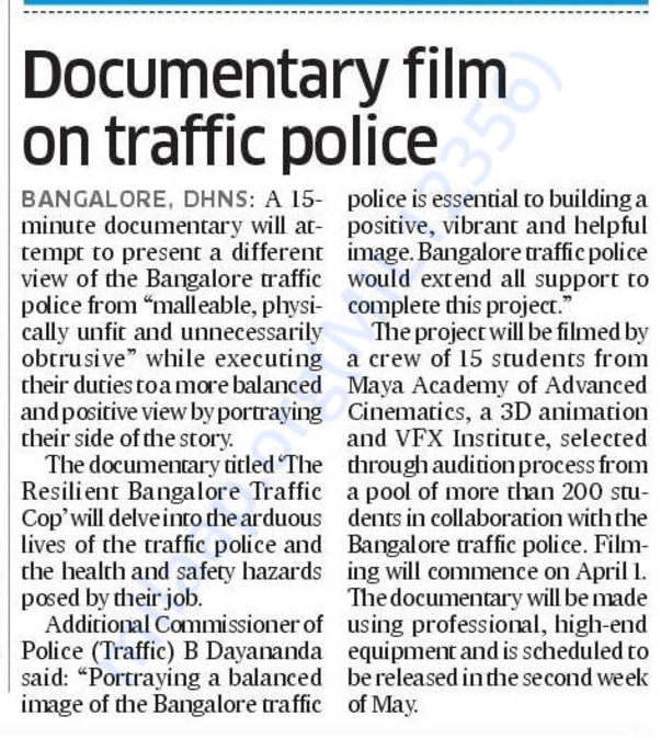 Award Winning Documentary film-The Resilient Bangalore Traffic Cop