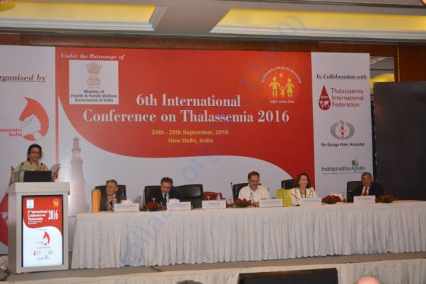 International conferences held by Thalassemics India