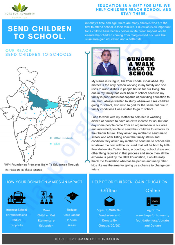 2. Send children to school project