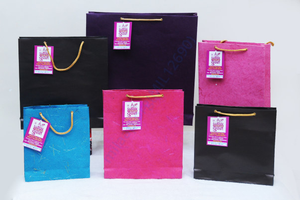 Handmade Paper Bags by Yuvaan students