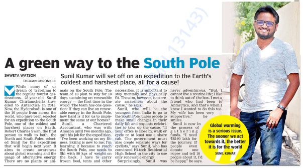 coverage in Deccan chronicle