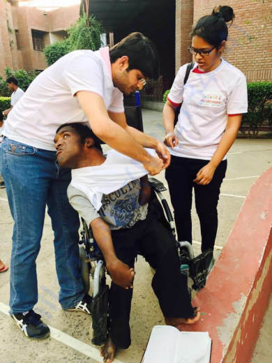 new clothes for disabled kids of Deepashram