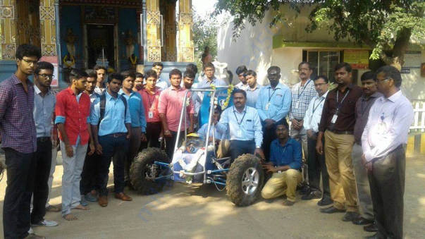 Team members with the ATV