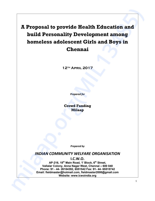 Health Education and personality development for homeless girls