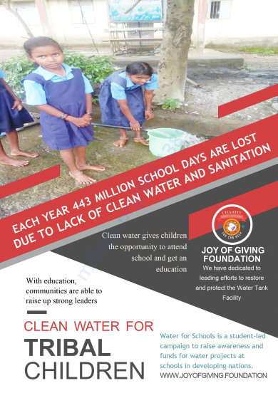 More than 1200 Needy Students are able to drink clean water everyday