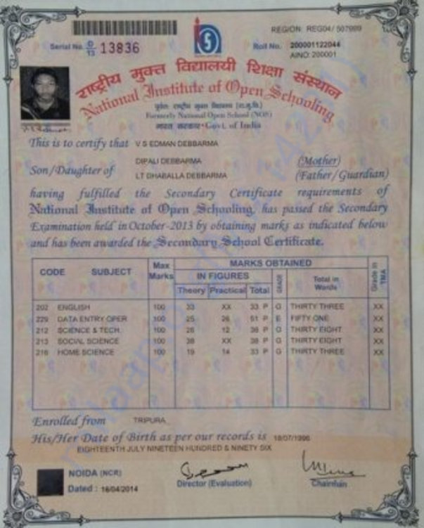 Secondary Certificate