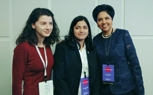 With Mrs Indra Nooyi, CEO of PepsiCo