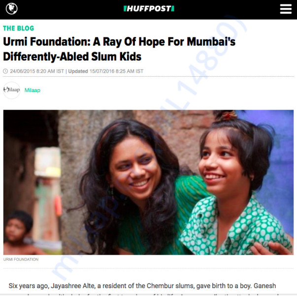 Urmi Foundation at Huffingtonpost