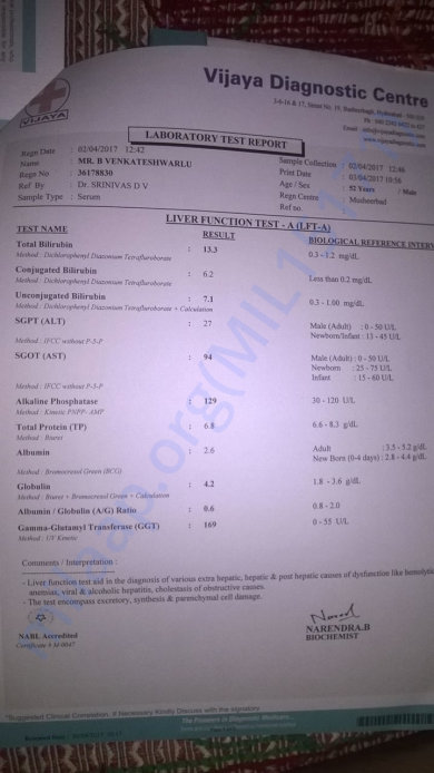 April 3 2017 LIVER FUNCTION TEST (LFT)