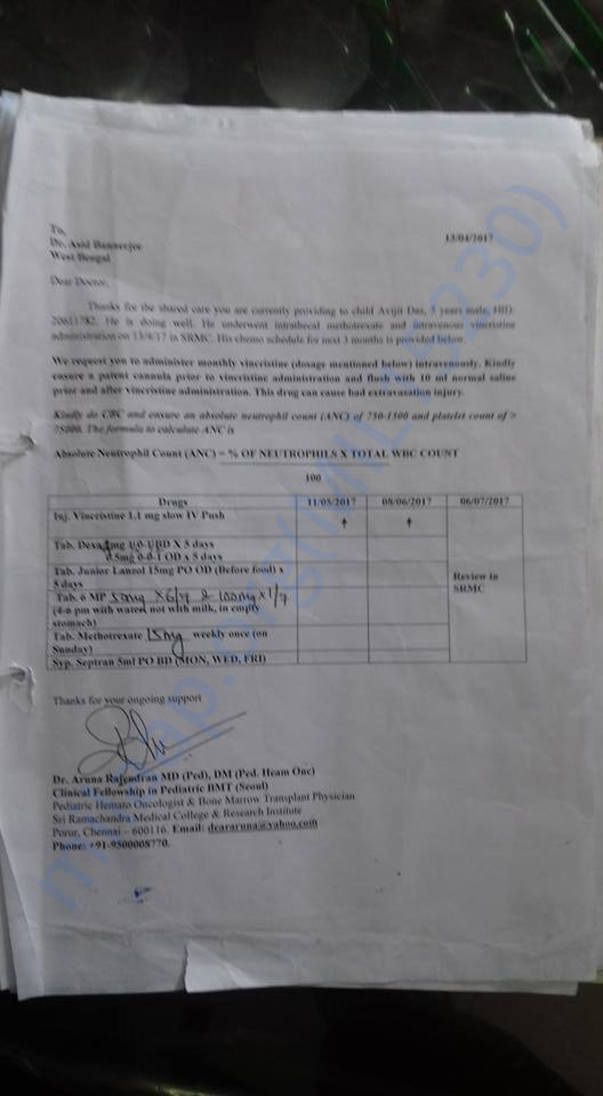 hospital document