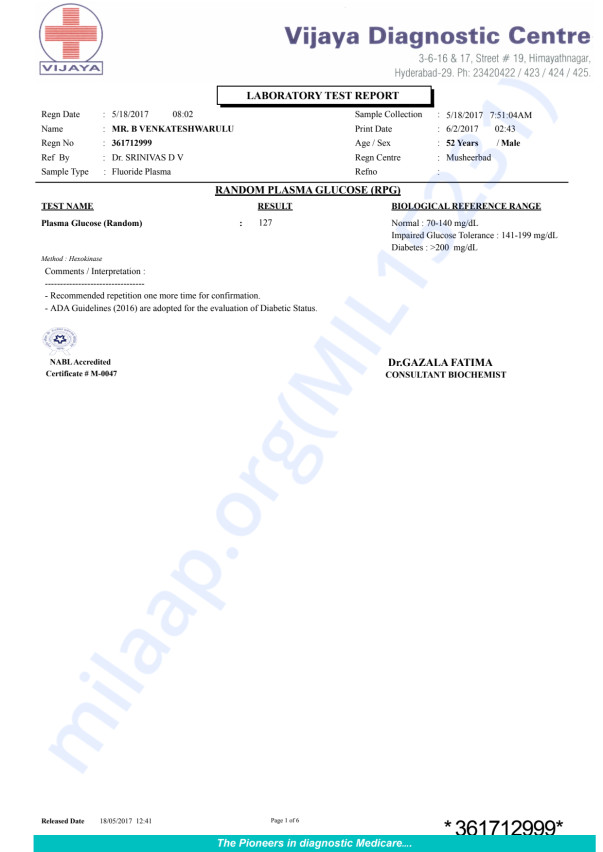 May 18 2017, health report (Urine, LFT, hemogram, creatinine..)