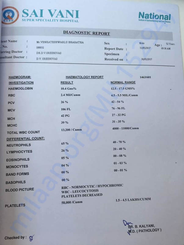 Haematology Report