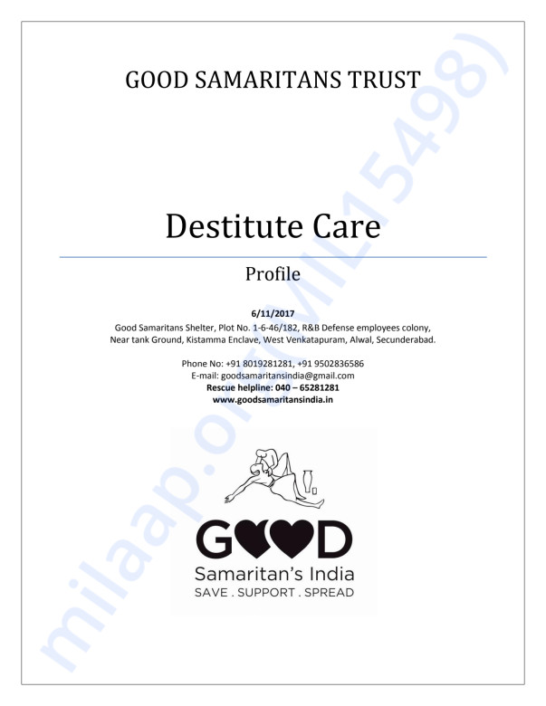 Good Samaritans India: Profile