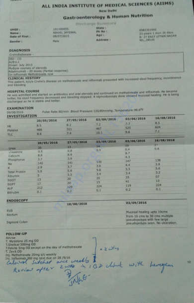 Medical Record - 21 - 4th Hospital Admission Discharge Card