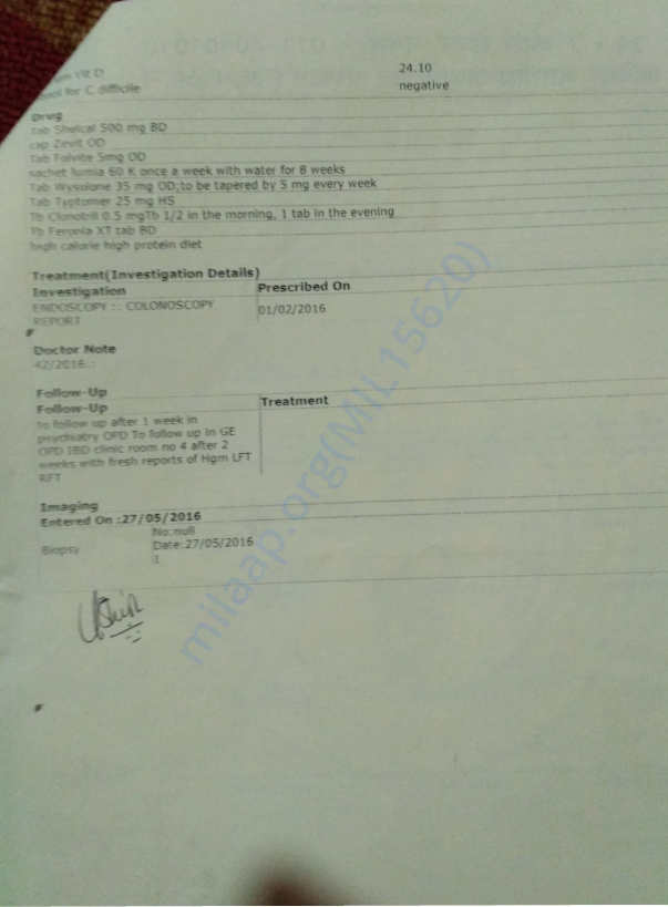 Medical Record - 20 - 3rd Hospital Admission Discharge Card - 2