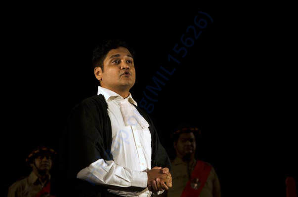 "Me acting as a Lawyer in a Play Based on a famous novel titled ""NAA"""