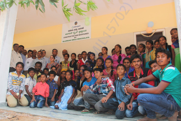 Students at Sri Sharadha school,Tippasandra Village