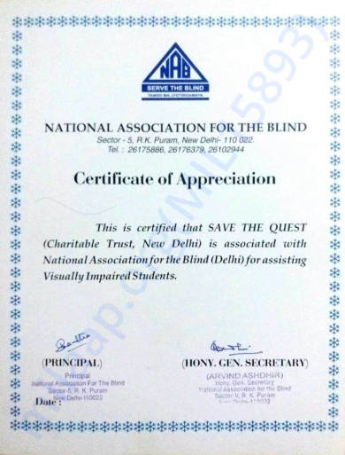 NAB certificate for association
