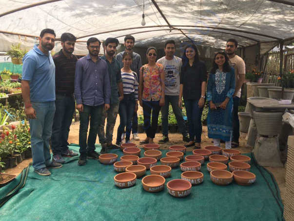 Phase 1 Chandigarh - Water Bowl Painting Event