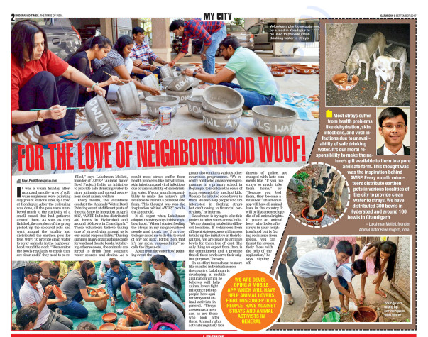 Times Of India - Covered About AWBP INDIA Project
