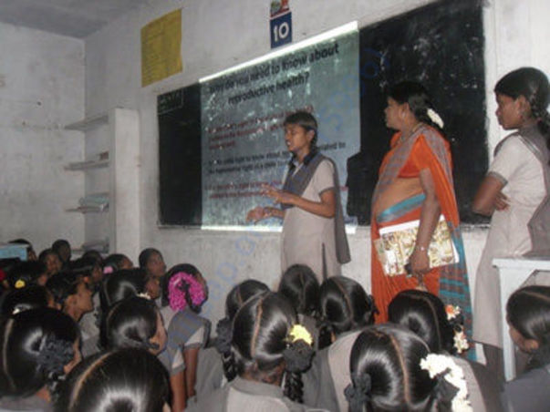 Priya making a presentation at her school on November 14th, 2014