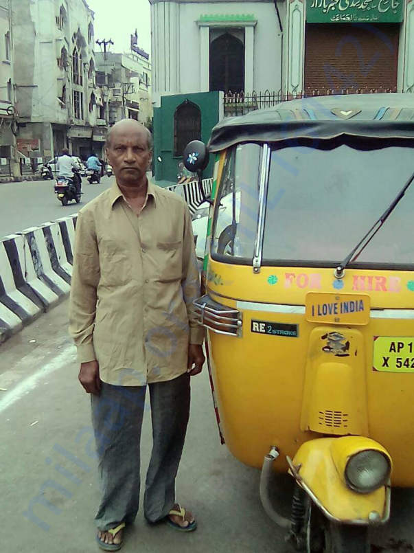 Purnachandher Rao with his auto