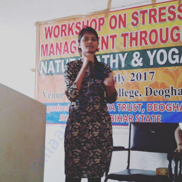 workshop on stress management i did in deoghar college,deoghar,jhrkhnd