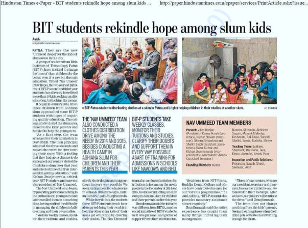 Spreading the warmth campaign/Hindustan times