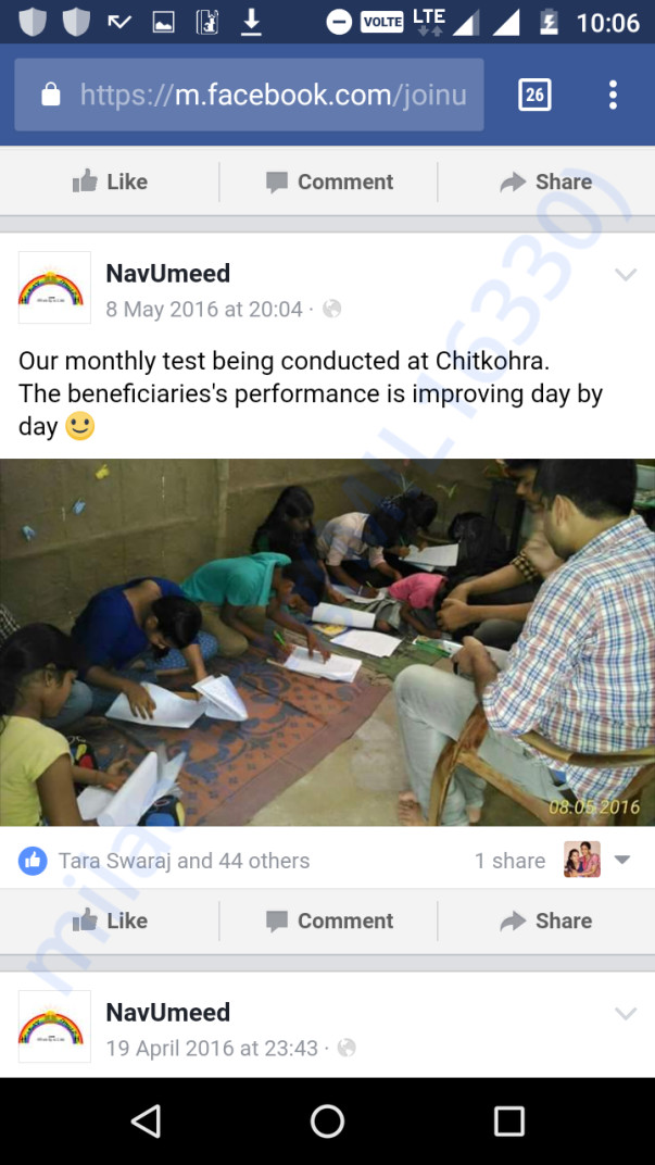 Tution to nav-umeed students