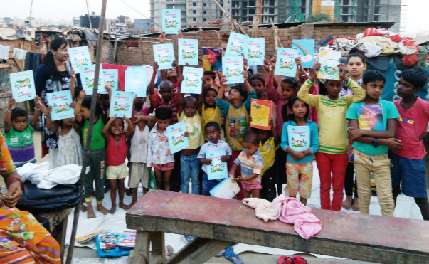 distribution of books and stationary