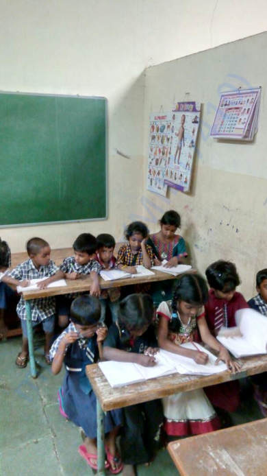 Students at the classroom