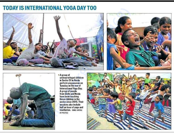 HindustanTimes covered our International Yoga Day Celebtrations