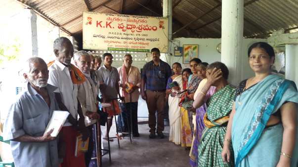 Donation of clothes by Dr.Suresh(BAMS), Vijayawada, on the occassion o