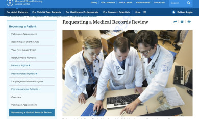 Sloan Kettering Medical Record Review page 1