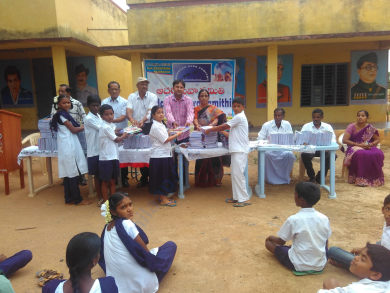 Long Note Books Distribution In School At Rural Area